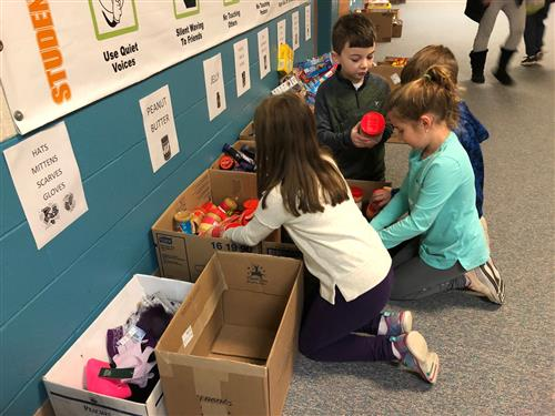 12 Days of Giving Project at Discovery Elementary