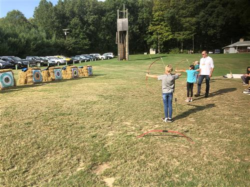 Archery at 5th-grade Camp
