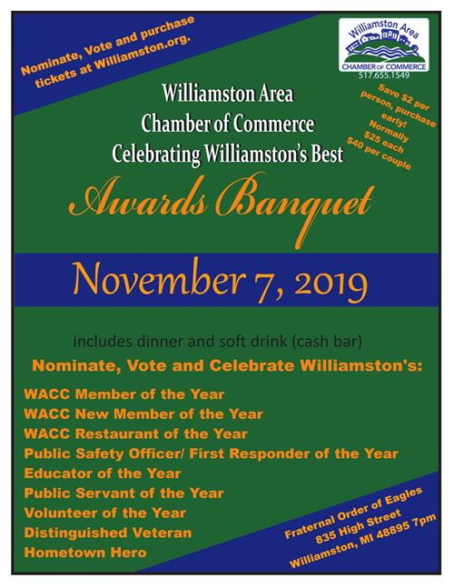 Chamber Awards Nominations and Banquet 2019