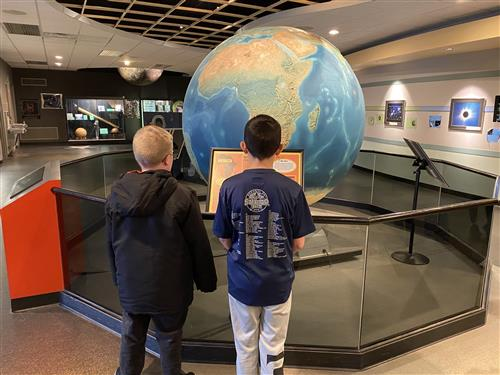 Explorer Students at Abrams Planetarium, 2020