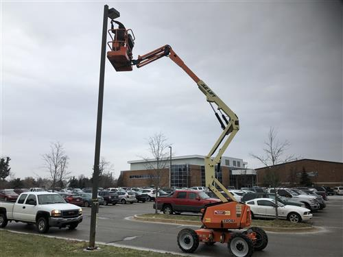 LED Light Upgrade HS Parking Lot