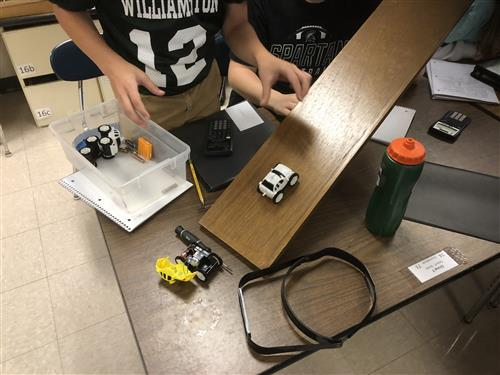 Mass, Force, and, Acceleration Experiment at WMS
