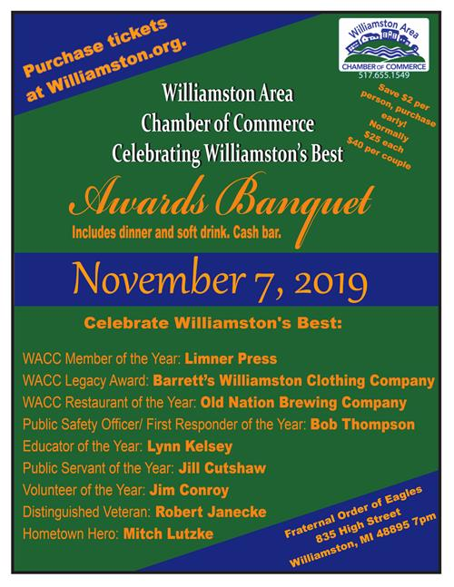 2019 Community Awards Banquet Flyer