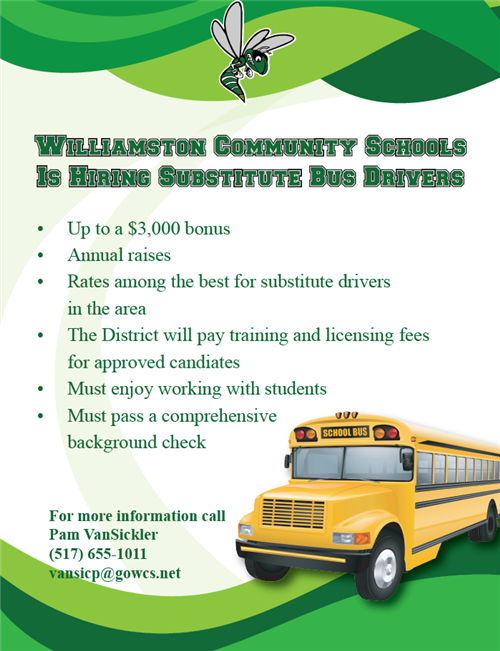 Bus Driver Bonus Flyer