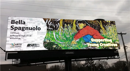 WHS Student Artwork on Display on Area Billboards, 2020